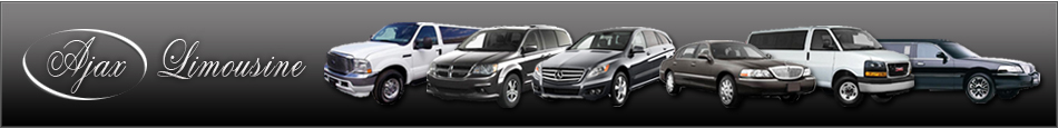 Ajax Limousine, Ajax Limo Service for wedding, corporate, airport transporation and special events